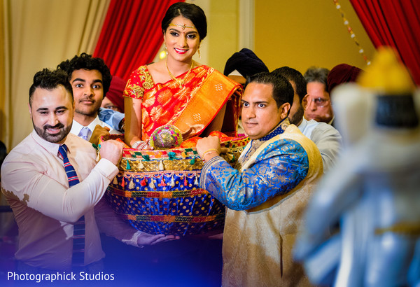 indian wedding ceremony,doli entrance,indian bride fashion
