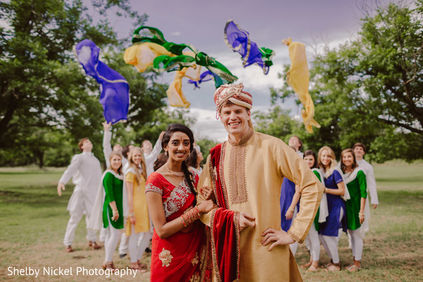 Charming indian bride and groom