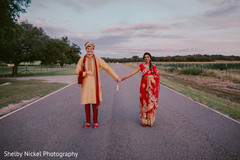 Adorable indian bride and groom posing