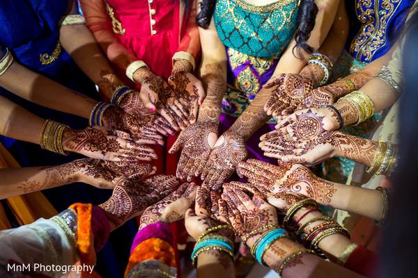 indian bride,indian bridesmaids,mehndi party,pre- wedding celebrations
