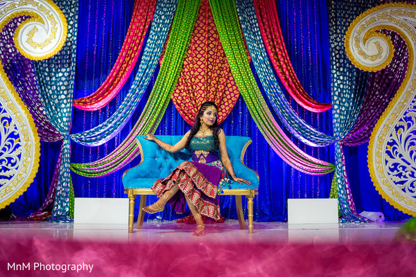 indian bride,mehndi party,floral and decor,pre-wedding fashion