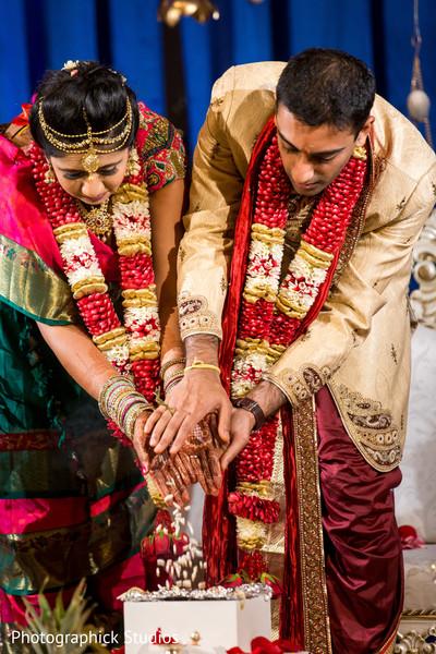 Indian wedding ceremony Rajaham ritual