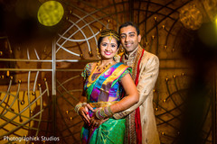 Adorable indian bride and groom