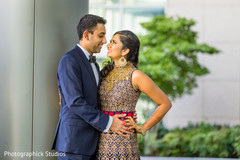 indian bride reception fashion,indian groom suit,outdoor photography