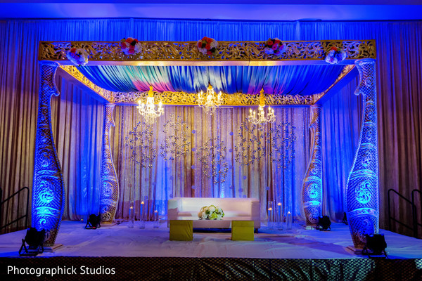 Indian wedding reception stage