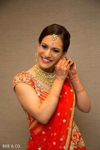 Indian bridal wedding style.