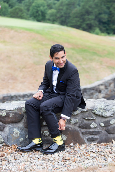 Inspiring Indian groom reception look.