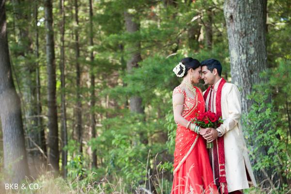 Magical outdoor indian wedding photo.