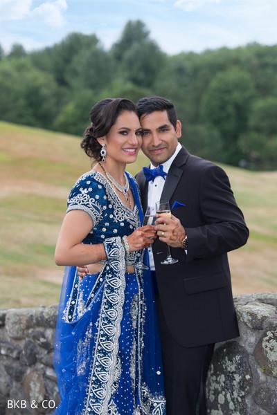 Elegant Indian newlyweds.