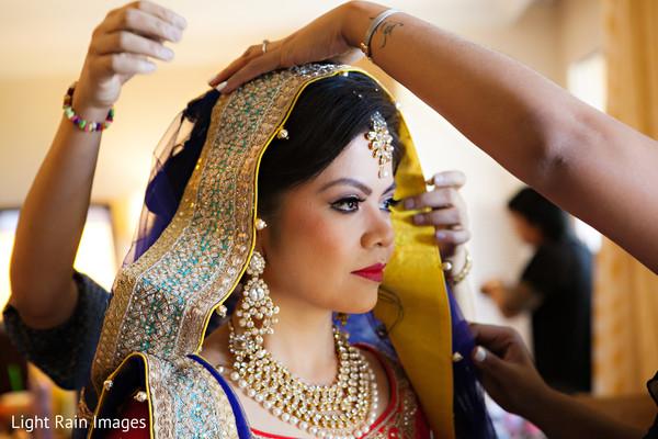 indian bride getting ready,indian bride,ghoonghat