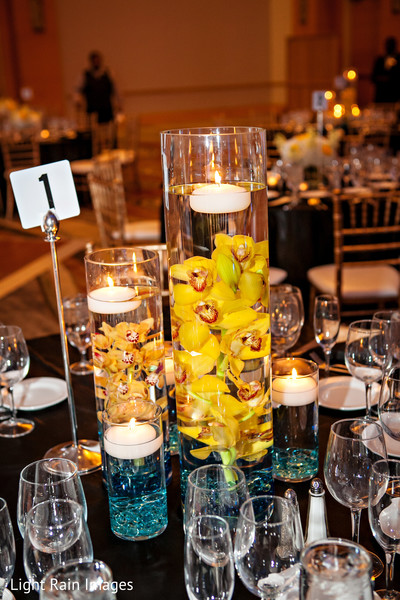 indian wedding reception floral and decor,indian wedding reception,table centerpieces