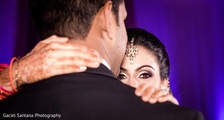 Indian bridal tikka in Ft. Lauderdale, Florida Fusion Indian Wedding by Gaciel Santana Photography