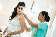 indian bride getting ready,indian bride,indian bride hair and makeup