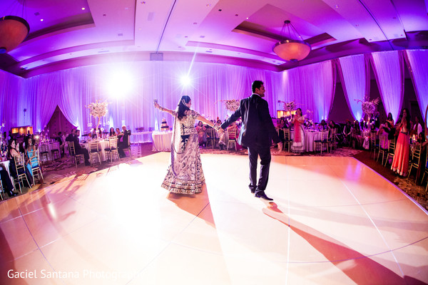 Indian bride and groom dancing in Ft. Lauderdale, Florida Fusion Indian Wedding by Gaciel Santana Photography