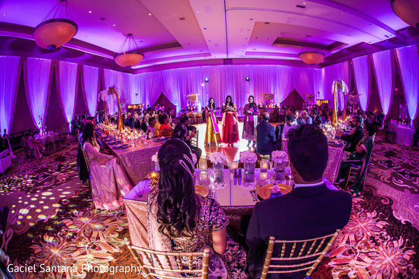 Indian bridesmaids giving a speech in Ft. Lauderdale, Florida Fusion Indian Wedding by Gaciel Santana Photography