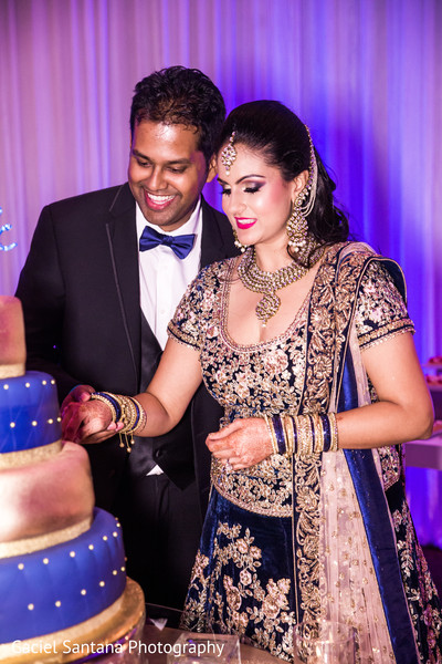 indian bride reception fashion,indian groom suit,indian wedding cake,indian wedding reception