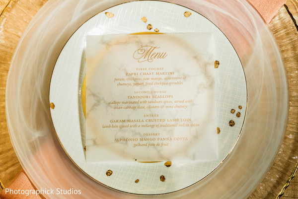 Indian wedding menu in Stylized Photoshoot by Photographick