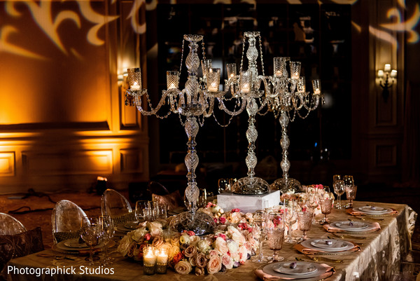 Indian wedding table decor in Stylized Photoshoot by Photographick