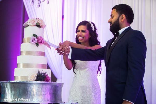 indian wedding reception,indian bride,indian groom,wedding cake