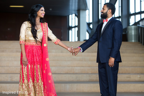 Gorgeous Indian bride and groom reception style.