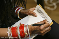 Indian bride writing a letter for groom