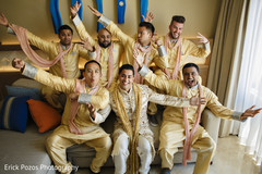 Indian groom with groomsmen