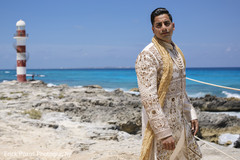 Indian groom outdoor portrait