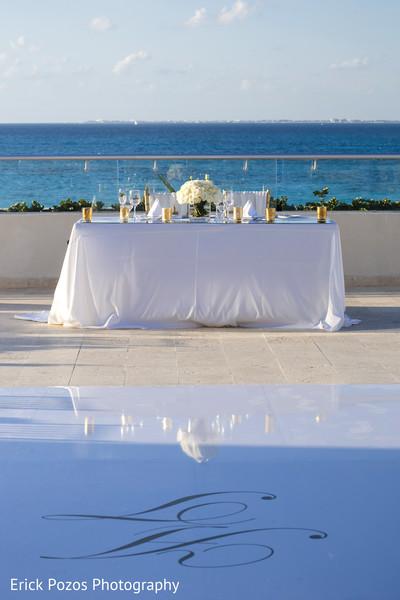 indian wedding reception,indian wedding reception floral and decor,indian wedding planning and design,monogrammed dance floor.