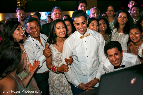 Cheerful indian wedding reception in Cancun, Mexico Destination Indian Wedding by Erick Pozos Photography