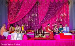 sangeet,pre- wedding celebrations,floral and decor,sangeet stage