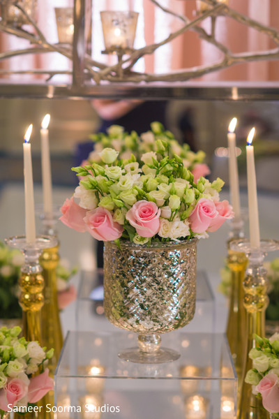 floral and decor,floral centerpiece,planning and design,indian wedding reception