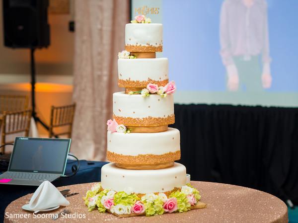 wedding cake,planning and design,indian wedding reception
