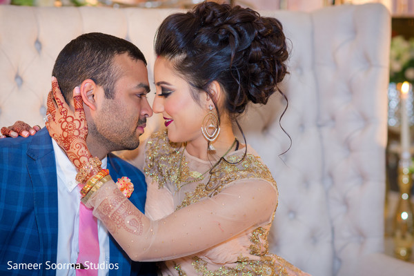 indian groom,indian bride,indian wedding reception,reception fashion