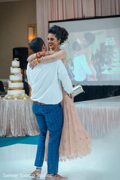 indian groom,indian bride,indian wedding reception,choreography,dj
