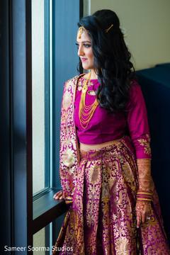 indian bride,pre-wedding fashion,lengha,portrait