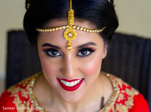 indian bride,hair and makeup,getting ready,portrait