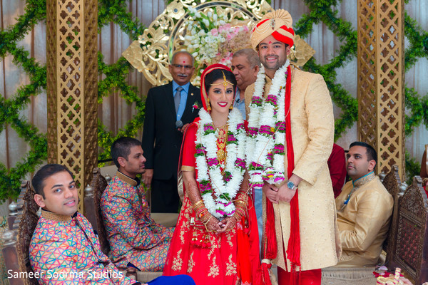 indian wedding ceremony,floral and decor,indian bride and groom