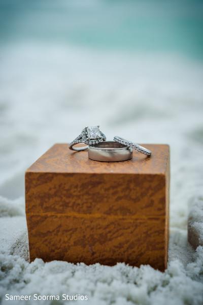 Ethereal wedding ring photo.