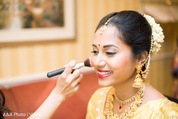 hair and makeup,getting ready,indian bride