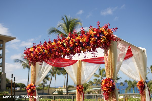 indian wedding ceremony,indian wedding ceremony floral and decor,flower mandap