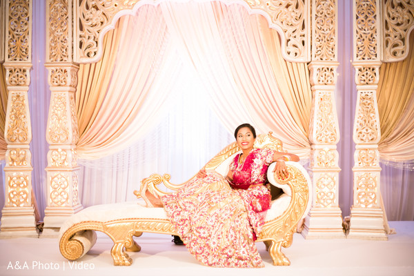 indian bride,indian wedding stage,portrait,floral and decor