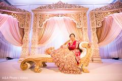 indian bride,portrait,wedding stage,reception fashion