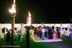 monogrammed dance floor,dj and entertainment,lightning,indian wedding reception