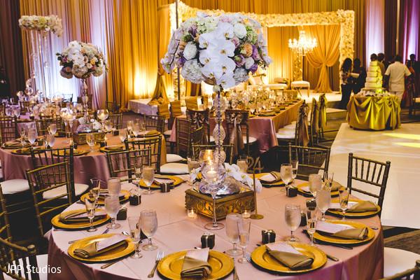 floral centerpieces,indian wedding reception,indian wedding reception floral and decor