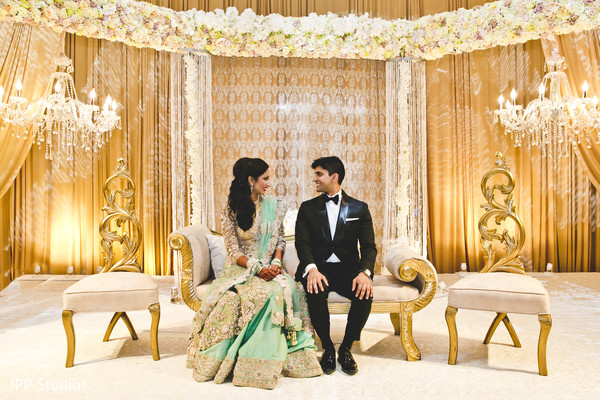 indian wedding reception,reception stage,indian bride fashion,indian groom suit