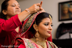 indian bride,hair and makeup,getting ready,ceremony fashion