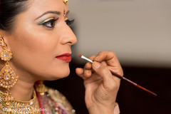 indian bride,hair and makeup,getting ready