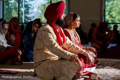 sikh indian bride and groom,sikh wedding ceremony,indian wedding photography