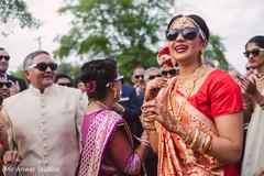 milni ceremony,indian bride fashion,bridal jewelry