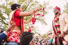 milni ceremony,indian bride fashion,indian groom fashion
